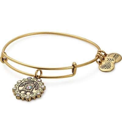 Buy Alex and Ani Maid of Honour Swarovski Bangle in Rafaelian Gold