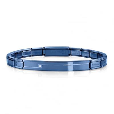 Buy Nomination Blue CZ Bar Trendsetter Bracelet