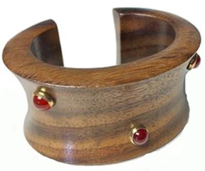 Buy The Branch 5 Stone Wooden Cuff Size Medium/Large