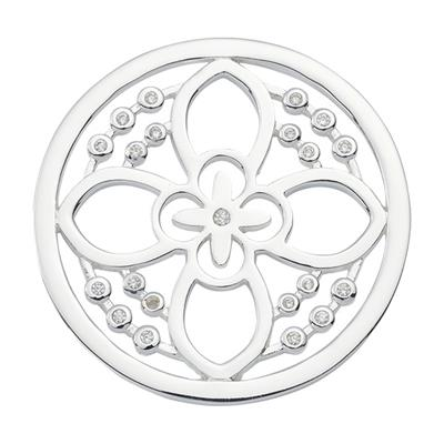 Buy Nikki Lissoni Silver Day Flower Crystal Coin 33mm