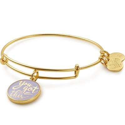 Buy Alex and Ani You Got This Bangle in Shiny Gold