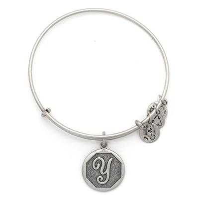 Buy Alex and Ani Y Initial Bangle in Rafaelian Silver