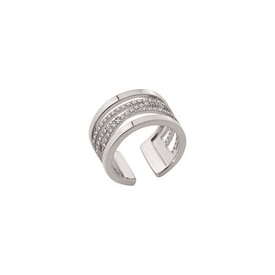 Buy Les Georgettes Silver CZ Liens Ring 56