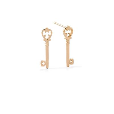 Buy Alex and Ani Skeleton Key Precious Studs in Gold