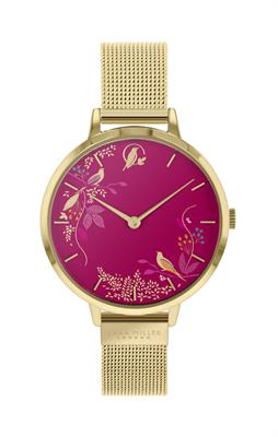 Buy Sara Miller Chelsea Bird Watch, Gold and Pink
