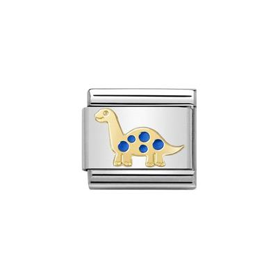 Buy Nomination Gold and Blue Brontosaurus Charm