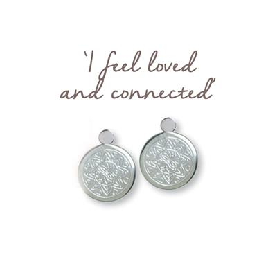 Buy Mantra Love Mandala Silver Drop Earrings