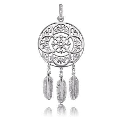 Buy Engelsrufer Silver Dreamcatcher Three Feather Pendant