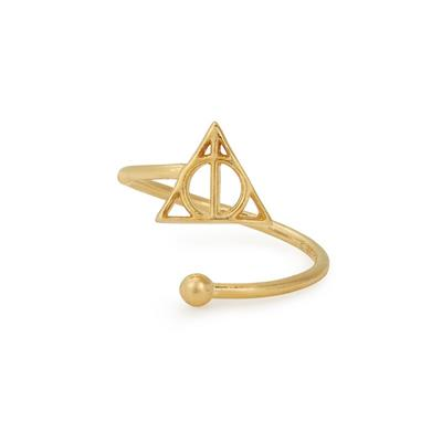 Buy Alex and Ani Harry Potter Deathly Hallows Precious Adjustable Ring in Gold