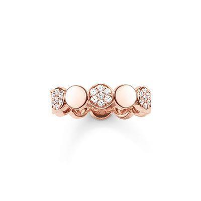 Buy Thomas Sabo Sparkling Circles Rose Gold Ring Size 52