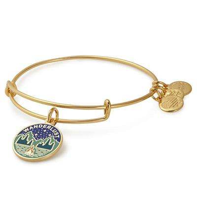 Buy Alex and Ani Wanderlust Bangle in Shiny Gold