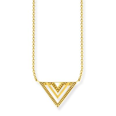 Buy Thomas Sabo Gold Africa Triangle Necklace