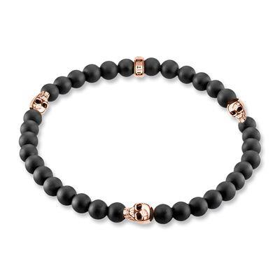 Buy Thomas Sabo Rebel at Heart 3 Skull Rose Bracelet