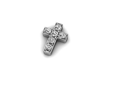 Buy Key Moments Silver Crystal Cross Moment