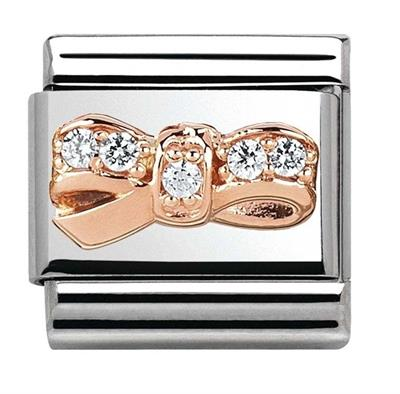 Buy Nomination Rose Gold & Cz Bow