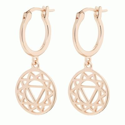Buy Daisy Solar Plexus Chakra Rose Gold Drop Earrings