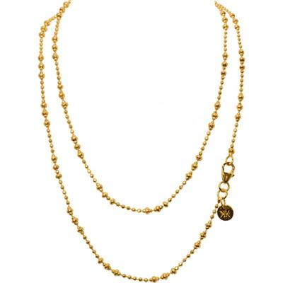 Buy Nikki Lissoni Yellow Gold 80cm Graduated Beads Chain
