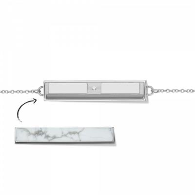 Buy Take What You Need Silver Toned Bar Bracelet