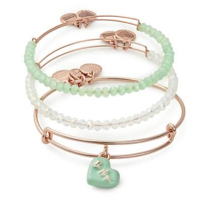 Buy Alex and Ani Sweet Set of 3 in Shiny Rose Gold