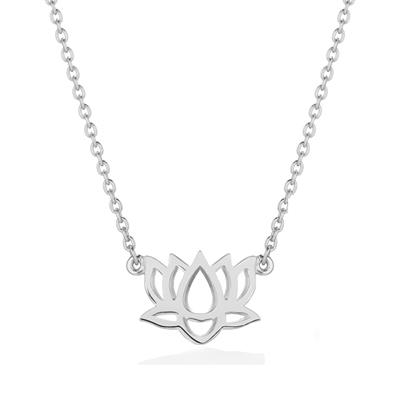 Buy Daisy Lotus Flower Silver Good Karma Necklace