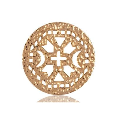 Buy Nikki Lissoni Gold Ancient Cross Coin 33mm