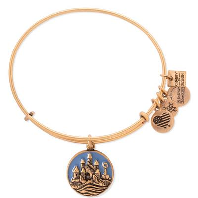 Buy Alex and Ani Sandcastle Charity by Design bangle in Rafaelian Gold