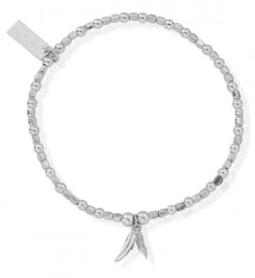Buy ChloBo Silver Double Feather Bracelet