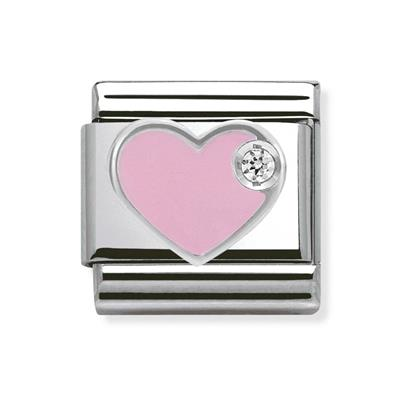 Buy Nomination Pink Enamel CZ Heart