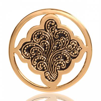 Buy Nikki Lissoni Yellow Gold Henna Dream Coin 33mm