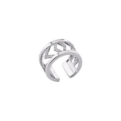 Buy Les Georgettes Silver CZ Chevrons Ring 52