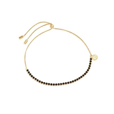 Buy Sif Jakobs Gold Ellera Pull Chain Bracelet with Black CZ