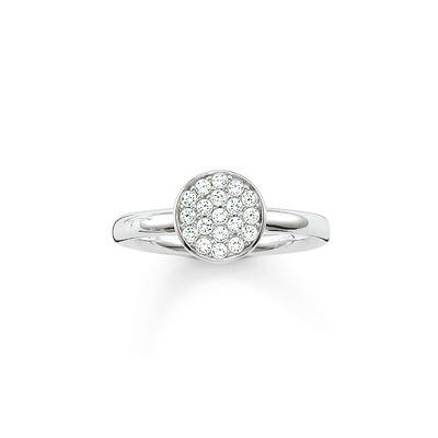Buy Thomas Sabo Sparkling Circles Silver Ring Size 56