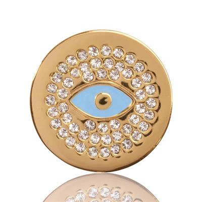 Buy Nikki Lissoni Yellow Gold Evil Eye Coin 23mm
