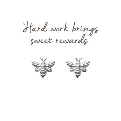 Buy Mantra Silver Bee Studs