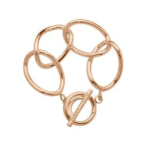 Buy Nikki Lissoni Oval Link Rose Gold Bracelet 19cm