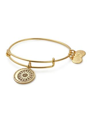 Buy Alex and Ani Cosmic Balance Colour Infusion Bangle in Shiny Gold