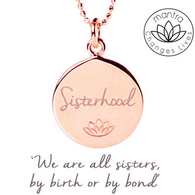 Buy Mantra Sisterhood, Women For Women International, Charity Necklace, in Rose Gold