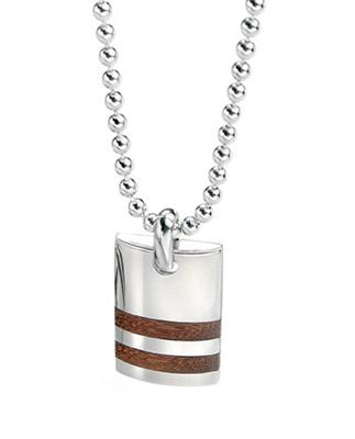 Buy Fred Bennett Wooden Stripe Dog Tag Necklace