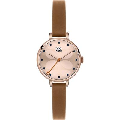 Buy Orla Kiely Ivy Tan Leather Strap Watch