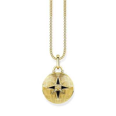 Buy Thomas Sabo Round Gold Nautical Star Locket
