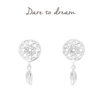 Buy Mantra Dreamcatcher Stud Earrings in Sterling Silver