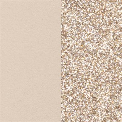 Buy Les Georgettes Medium Cream / Gold Glitter Leather