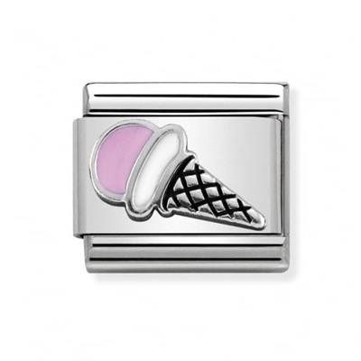 Buy Nomination Silver and Pink Ice Cream Charm
