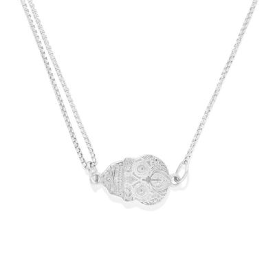 Buy Alex and Ani Calavera Precious Pull Chain Necklace in Silver