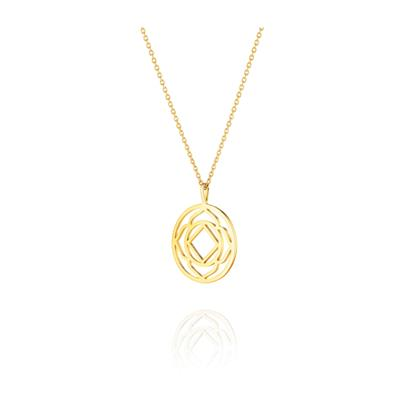 Buy Daisy Base Chakra Gold Short Necklace