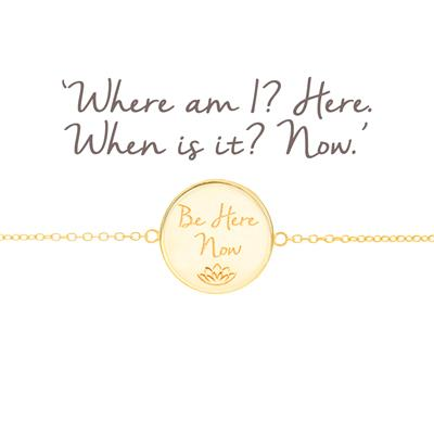 Buy Mantra Be Here Now Disc Bracelet in Gold