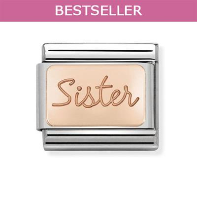 Buy Nomination Rose Gold Sister Charm Link