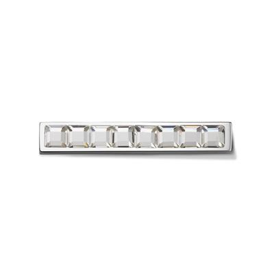 Buy Take What You Need Squared Studs White Bar with Swarovski
