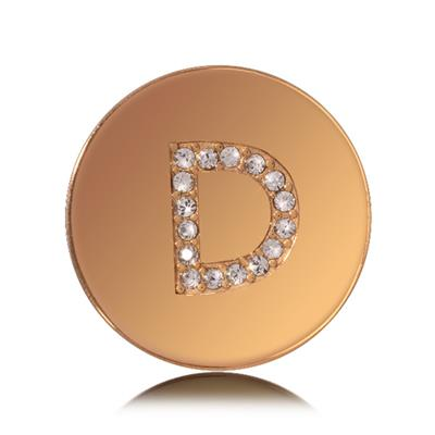 Buy Nikki Lissoni Letter D Small Gold Coin