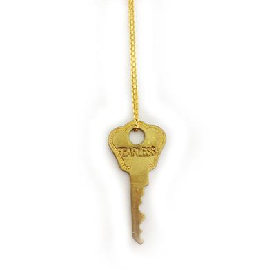 "Buy Giving Keys FEARLESS Dainty Gold 36"" Key Necklace"
